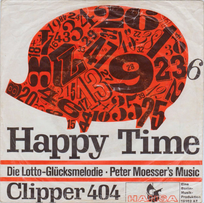 "Peter Moesser's Music ‎– ""Happy Time"" b/w ""Clipper 404"" 1"