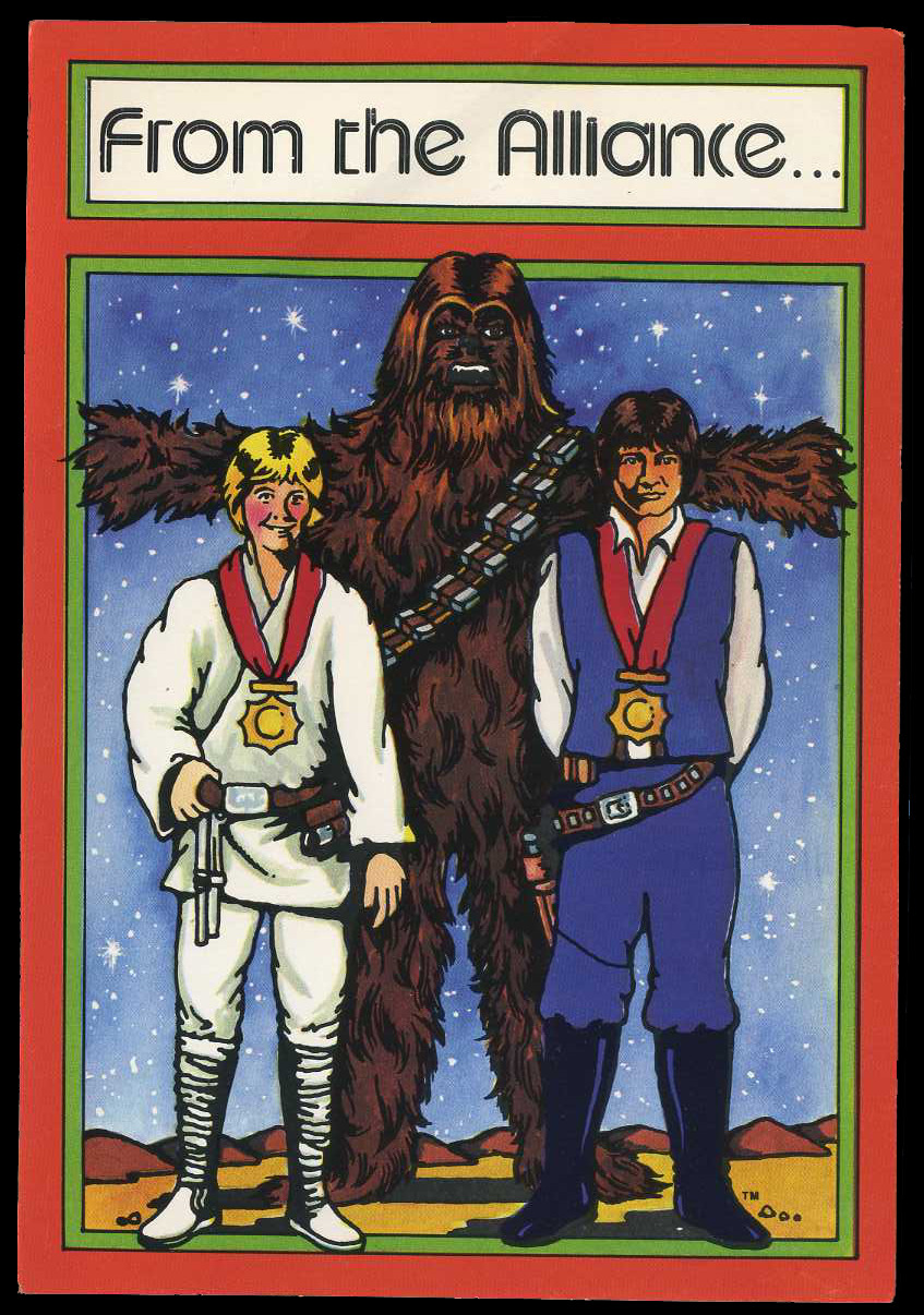 Star Wars Christmas cards (1977) - Fonts In Use