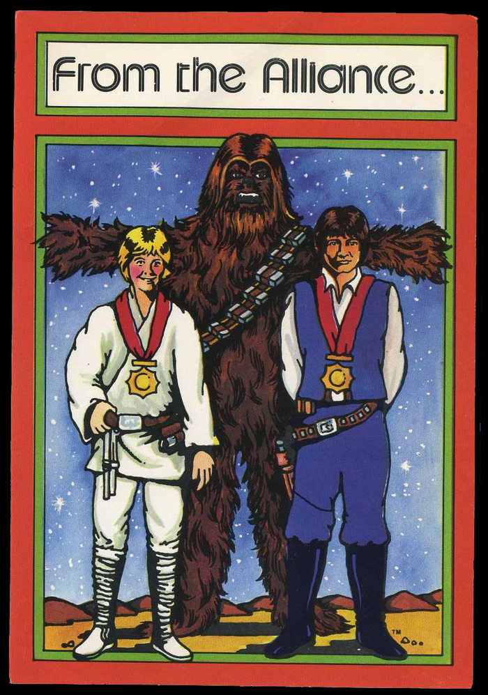 Star Wars Christmas cards (1977) 1