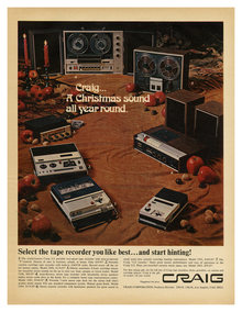 """A Christmas sound all year round"" ad by Craig Tape Recorders"