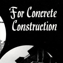 """For Concrete Construction"" F.<span class=""nbsp"">&nbsp;</span>Bradford &amp; Co Ltd ad"