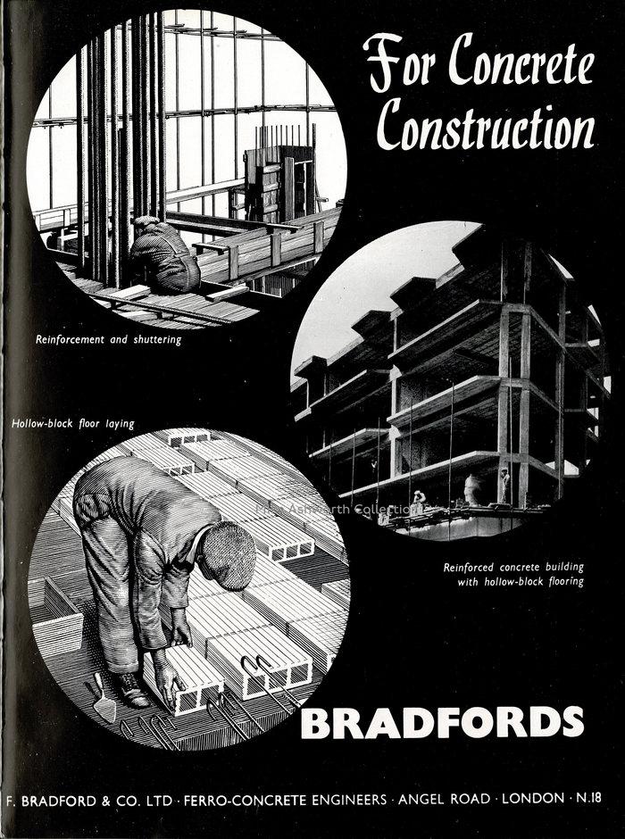 """""""For Concrete Construction"""" F.Bradford & Co Ltd ad"""