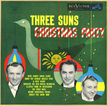 The Three Suns – <cite>Christmas Party</cite> album art
