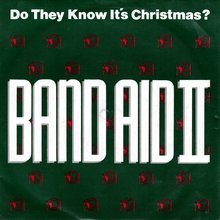 """Do They Know It's Christmas?"" by<br />Band Aid II (45 RPM &amp; cassette single)"