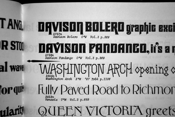 Davison Bolero and Fandango in PLINC's One Line Manual of Styles, 1971.