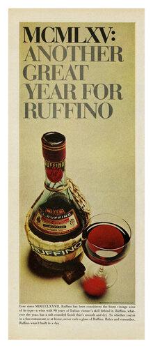 """""""MCMLXV"""" Ruffino ad"""