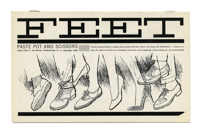 """""""Feet"""" (PP&S No. 51) appears to be modeled after  (or ). It's paired with  in two widths."""