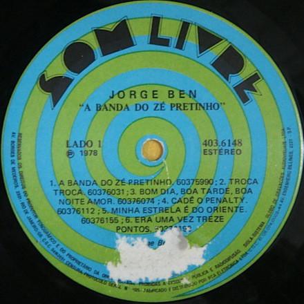 Jorge Ben – A Banda Do Zé Pretinho album art 3