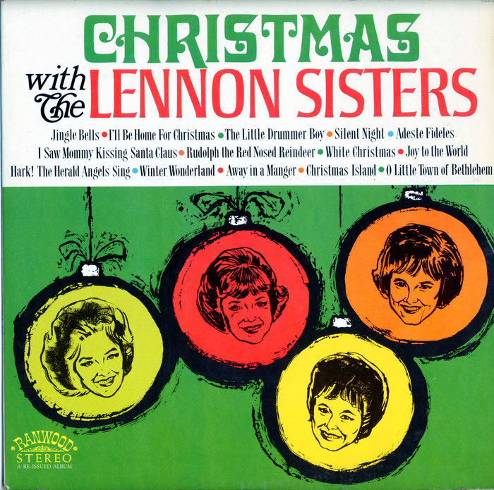 Christmas with The Lennon Sisters (Ranwood, 1968) album art