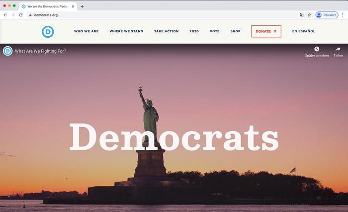 Democratic National Committee website 11