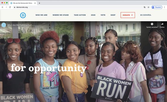 Democratic National Committee website 8