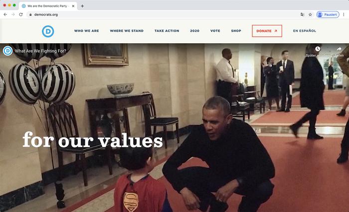 Democratic National Committee website 7