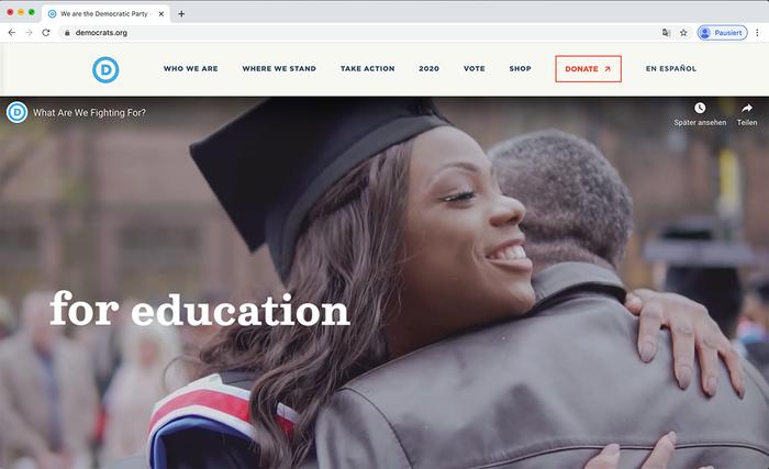Democratic National Committee website 9
