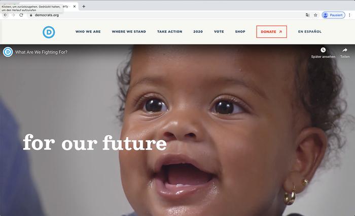 Democratic National Committee website 10