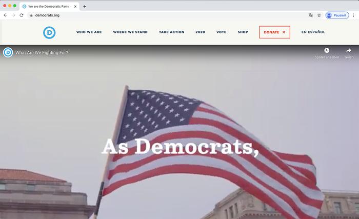 Democratic National Committee website 5