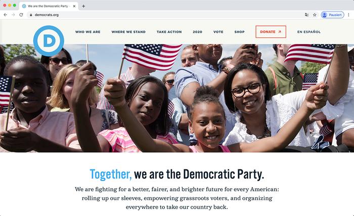 Democratic National Committee website 1
