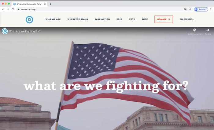 Democratic National Committee website 6
