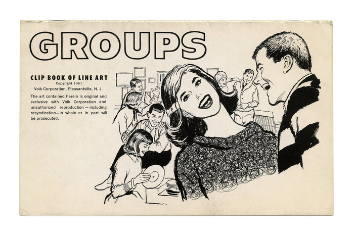 """Groups"" (No. 320) ft. , an outlined variant of , issued sometime after 1955."