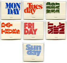 Weekday matchbooks