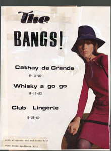 <cite>The Bangs</cite> flyer