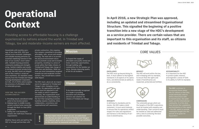Trinidad & Tobago Housing Development Corporation Annual Report 2017 4