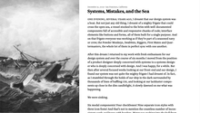Systems, Mistakes, and the Sea