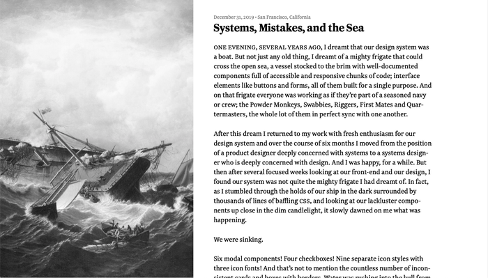 Systems, Mistakes, and the Sea 1