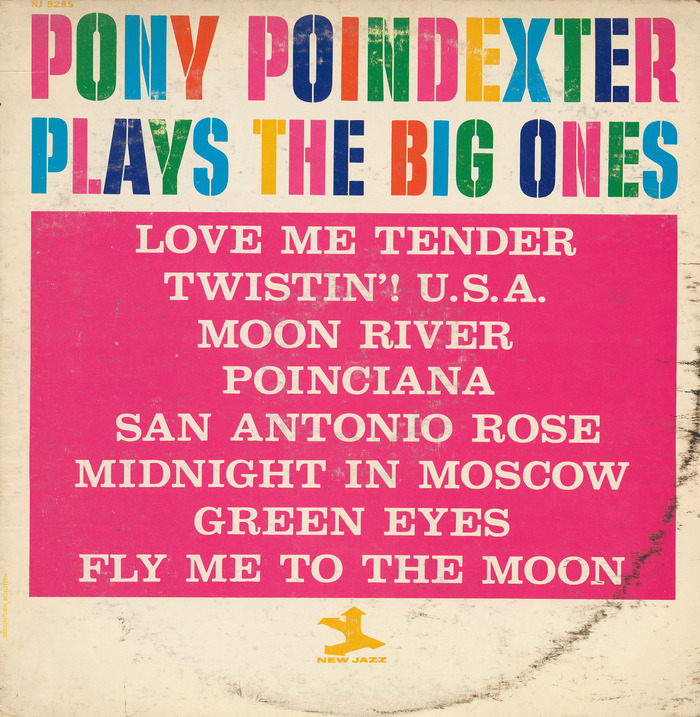 Pony Poindexter – Plays The Big Ones album art 1
