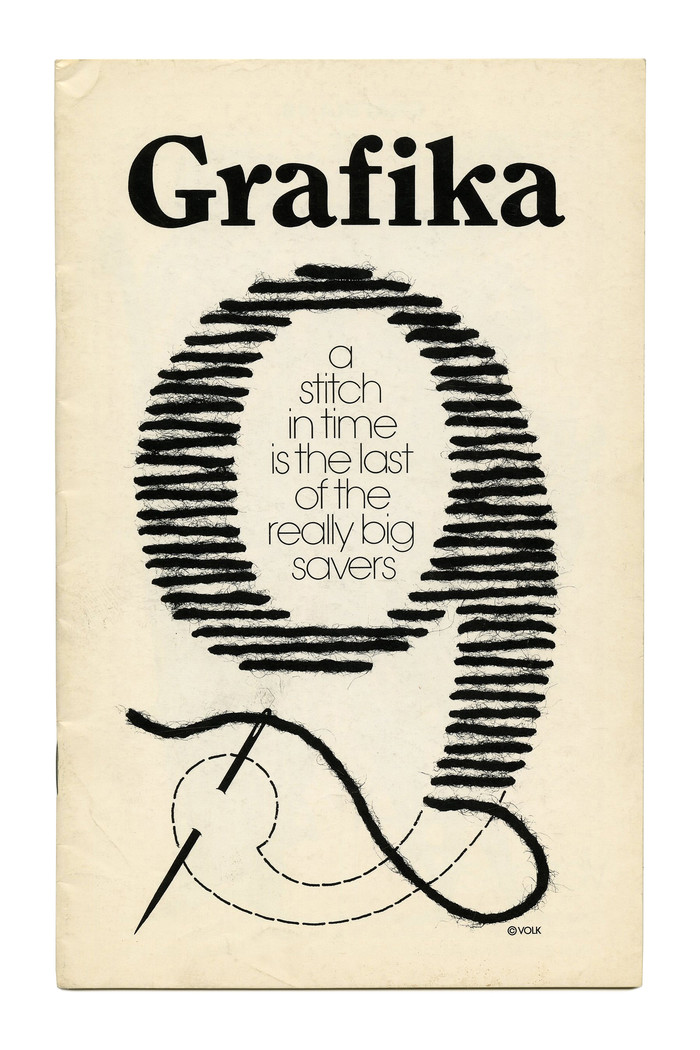 Grafika 9 (1971) uses a phototype version of . According to the One Line catalog (1971), Photo-Lettering, Inc. offered the design in 4 weights and 2 widths, plus italics. In 1978, ITC released a version in 4 weights, credited to Victor Caruso. ITC Clearface is narrower than the variant used here. The text in light lowercase letters inside the counter is set in .