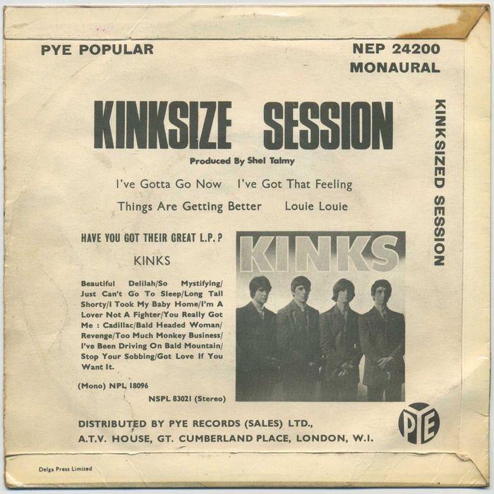 The Kinks – Kinksize Session EP album art 2