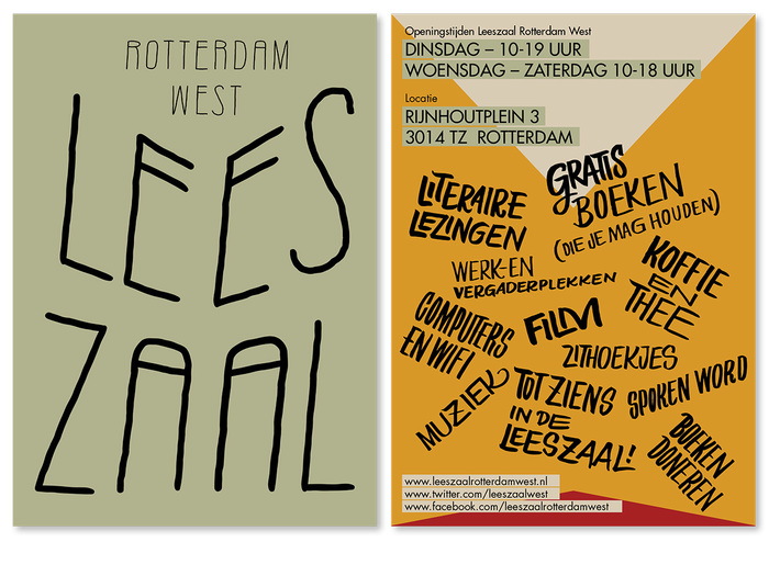 Visual identity Leeszaal Rotterdam West 1