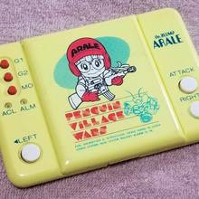 <cite>Penguin Village Wars</cite> handheld game, Animest logo