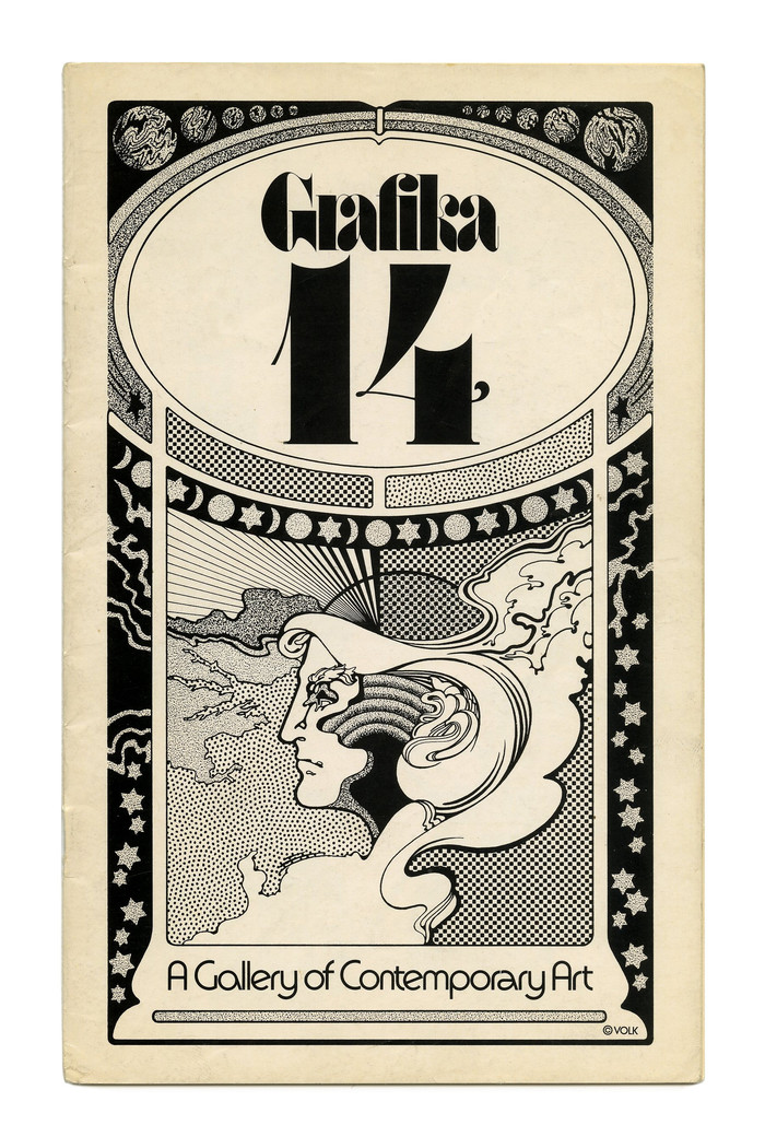 "Grafika 14 (1972). ""A Gallery of Contemporary Art"" is in tightly spaced ."