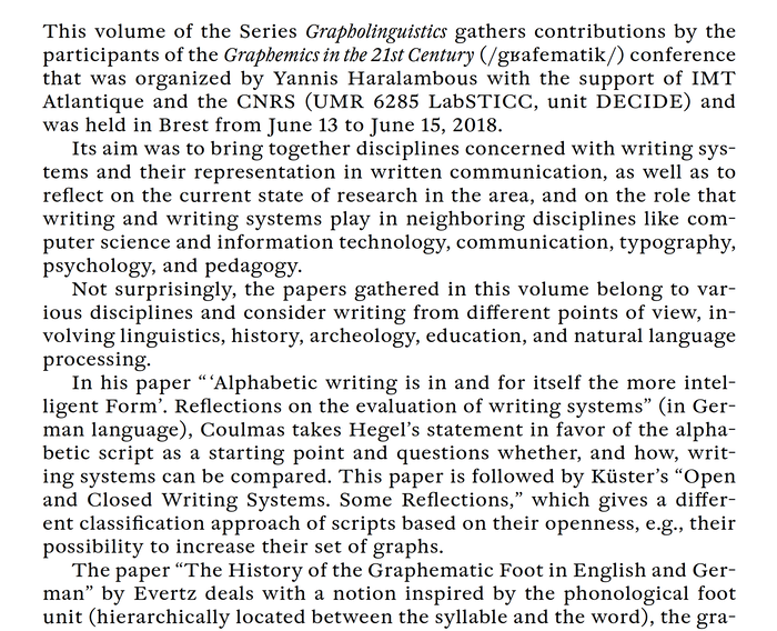 Graphemics in the 21st Century. Proceedings 3