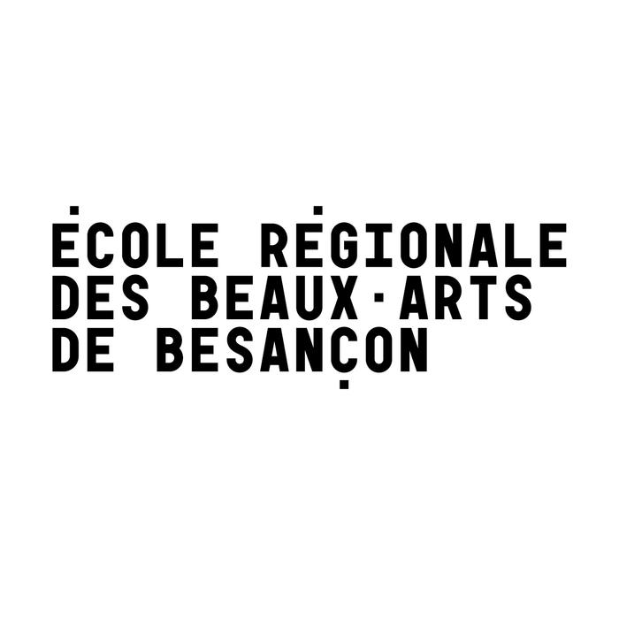 École régionale des beaux-arts de Besançon, logo and display wall 1