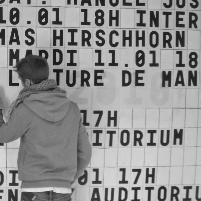 École régionale des beaux-arts de Besançon, logo and display wall 6