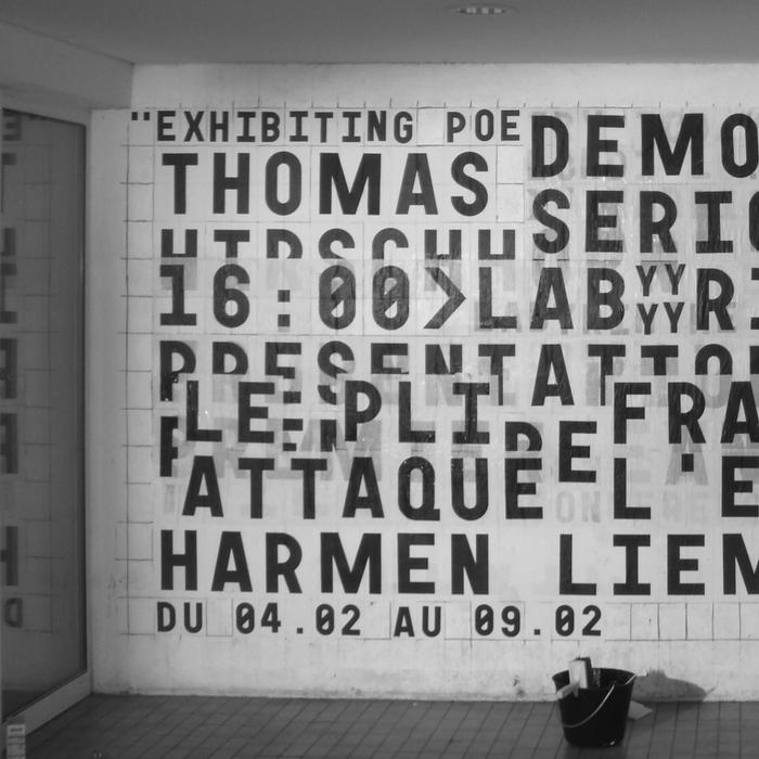 École régionale des beaux-arts de Besançon, logo and display wall 7