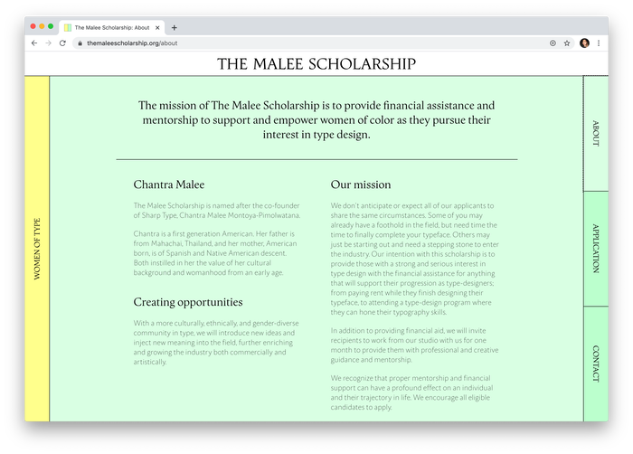The Malee Scholarship 2