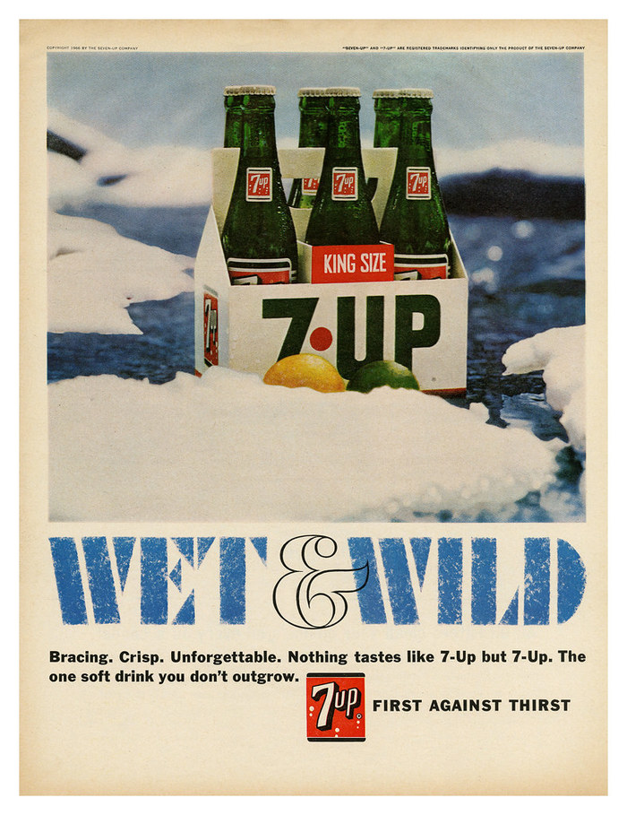 """""""Wet & Wild"""" ads for Seven-Up 6"""