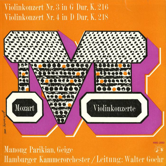 Mozart Violinkonzerte, Musical Masterpiece Society 1