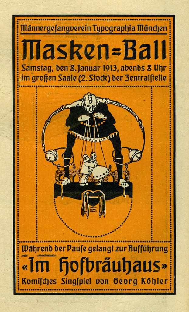 Masken-Ball, Männer-Gesangverein Typographia München 1