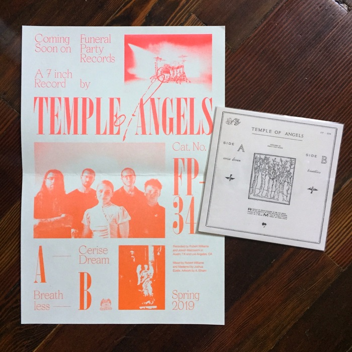 "Temple of Angels – ""Cerise Dream"" / ""Breathless"" poster"