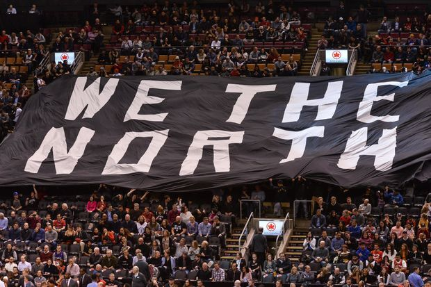 """We the North"" flags by Toronto Raptors 1"