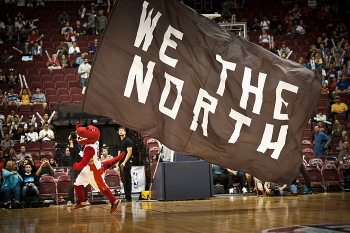 """We the North"" flags by Toronto Raptors 2"