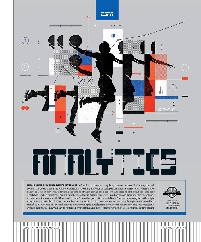 "ESPN magazine, 27 March 2017, ""The Analytics Issue"" 1"