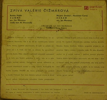"""Sunny"" / ""Čekám"" – Valérie Čižmárová (Panton, 1969) 3"