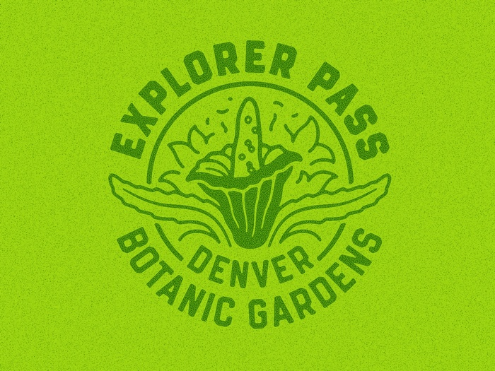 The icon for the Denver Botanic Gardens celebrates the corpse flower that the museum is known for.