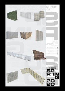 Spring 2020 lecture series poster, University of Texas at Austin School of Architecture