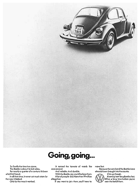 """""""Going, going…"""""""