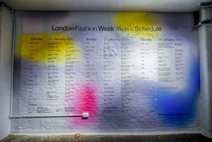 London Fashion Week Men's FW20 3